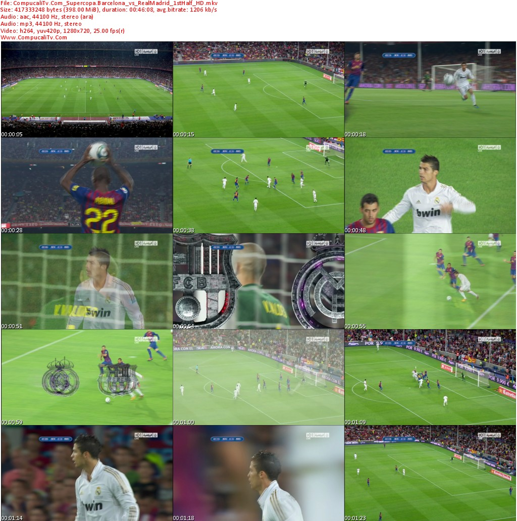 Barcelona Vs Real Madrid Final Supercopa de España [2011] Partido de Vuelta