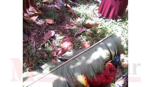 Kondisi mayat korban setelah berada ditepi sungai