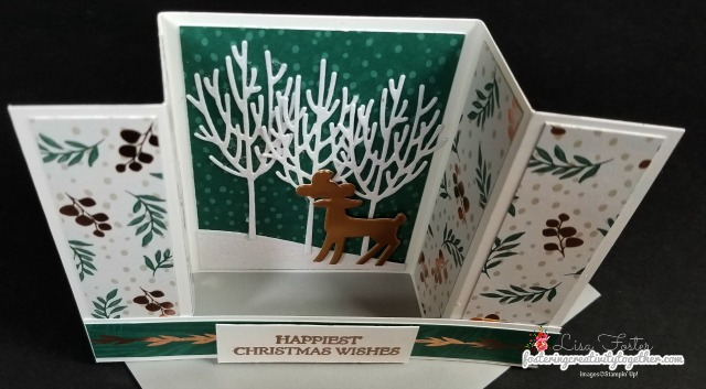 #dashingdeer #winterwoods #christmascard #bridgecard #stampinup