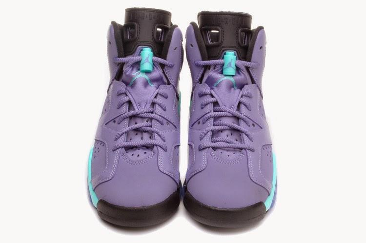 "c6dff1cd2270 ... Nike Air Jordan VI 6 Retro  Air Jordan 6 GS ""Iron Purple"" Color Iron  Purple Bleached Turquoise-Black Style ..."
