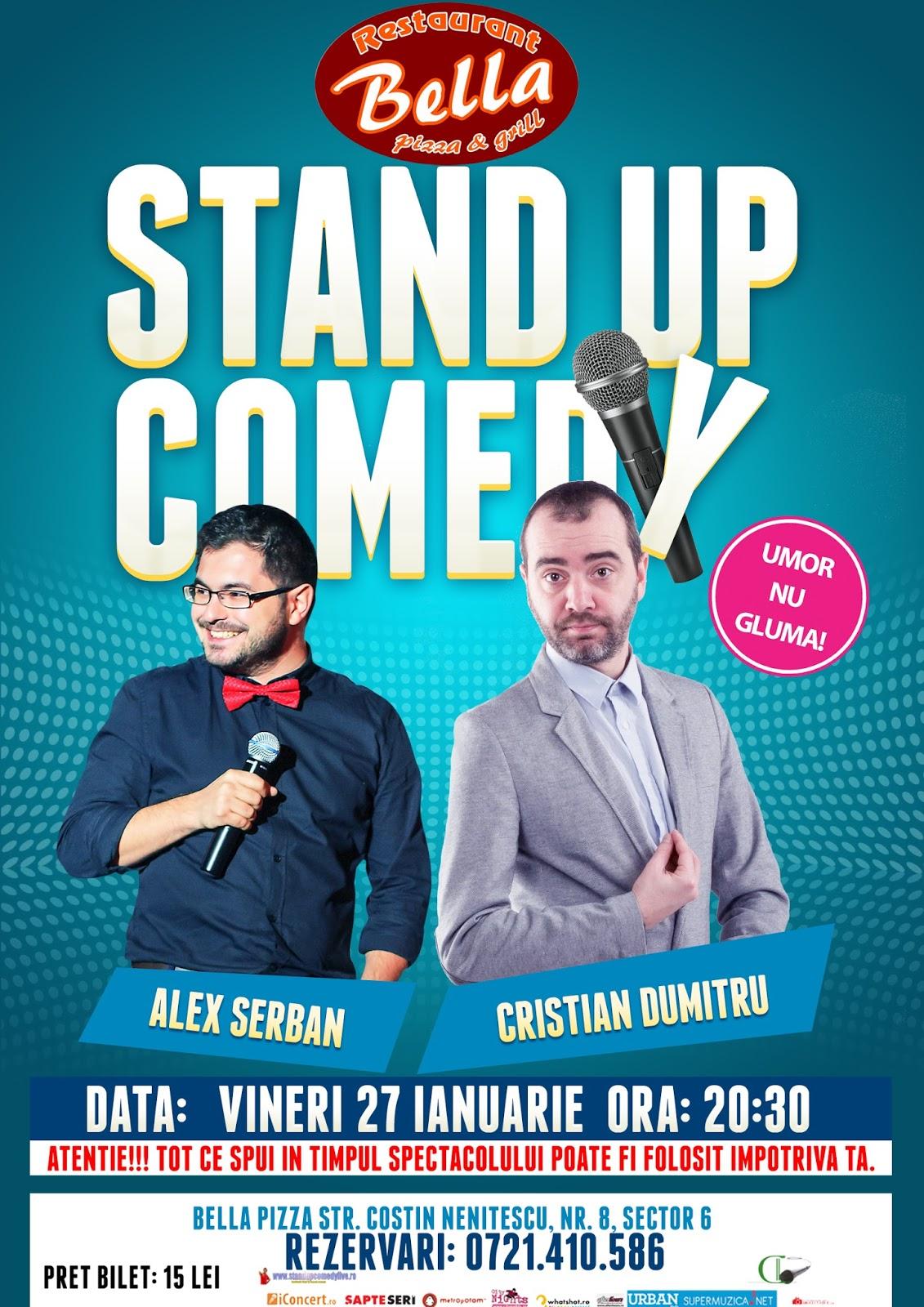 Stand-up Comedy Vineri 27 ianuarie Bucuresti