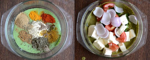 green chutney paneer tikka recipe