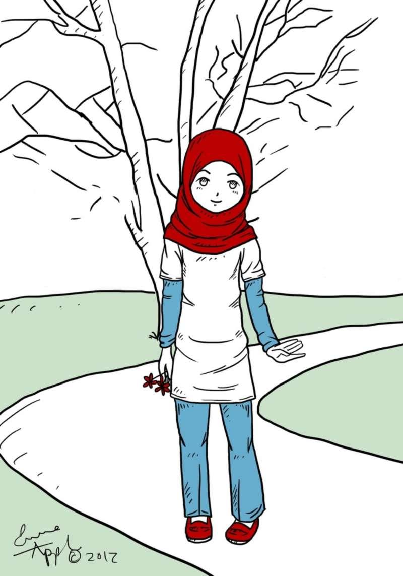 Gambar World Renungan Gambar Kartun Muslimah Ngantuk Di Rebanas