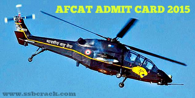IAF AFCAT 1 2015 Admit Card Download