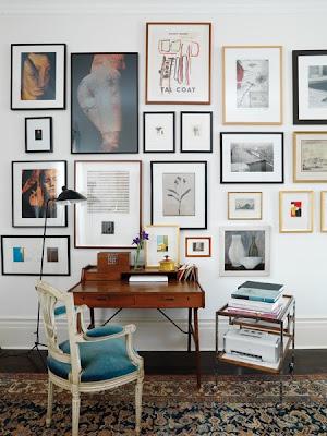 Gallery wall ideas via belle vivir blog