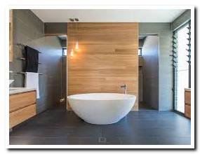 wood look tile bathroom walls