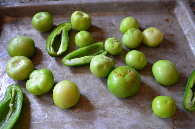 Chicken Chili Verde peel and wash tomatillos from Serena Bakes Simply From Scratch.