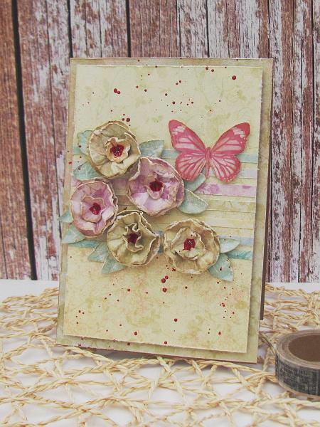 22. Kurs na ścinkowe kwiaty i kartka