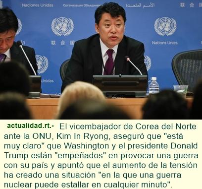 Corea del Norte: Haremos pruebas con misiles cada semana