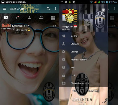 Kumpulan BBM MOD Juventus FC versi Terbaru 3.0.1.25 dan versi Lama Series Supermini for Android