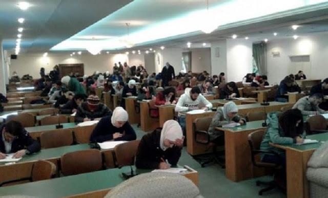 10 حالات غش في كليتي الآداب والحقوق في جامعة دمشق