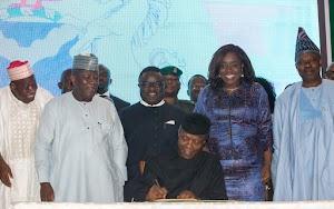 Nigeria Acting President Osinbanjo Endorsed Order On Voluntary Assets and Income Declaration Scheme - Pics