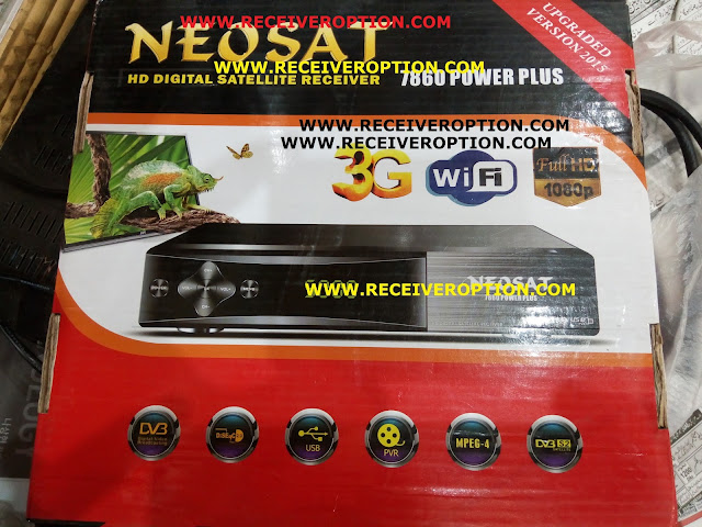 NEOSAT 7860 POWER PLUS HD RECEIVER POWERVU KEY NEW SOFTWARE