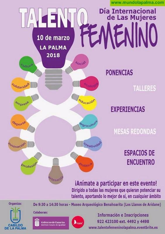 Más de 100 mujeres reivindicarán el talento femenino en La Palma en una jornada organizada por el Cabildo