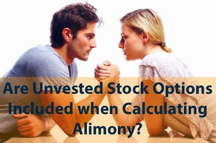 Stock options alimony