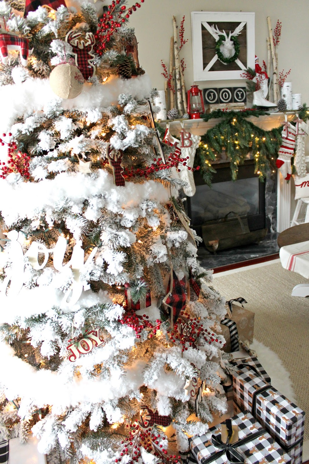 most everything else on my mantel was found at local antique and home decor stores my cascading christmas garland was purchased from grandinroad