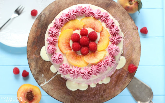 Last day of summer: Pfirsich-Himbeer-Torte