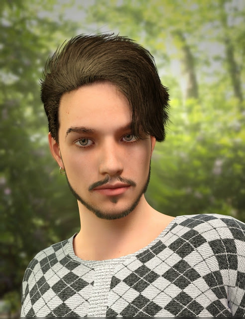 Killian Hair for Genesis 3 Male