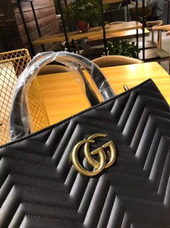 5276ba328ad4 GUCCI GG Marmont Medium Matelassé Top Handle Bag Luxury Handbag Leather Top  Handle Tote Sling Bag