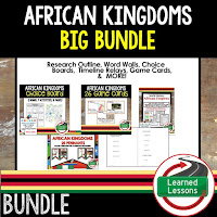 African Kingdoms, Ancient World History Mega Bundle, Ancient World History Curriculum, World History Digital Interactive Notebooks, World History Choice Boards, World History Test Prep, World History Guided Notes, World History Word Wall Pennants, World History Game Cards, World History Timelines