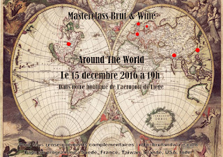 Brut & Wine - carte de la soirée