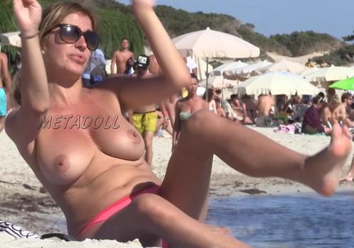 Nude at the Beach Topless Girls Filmed Voyeur (NudeBeach sb15001-15008)