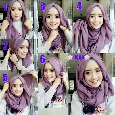 Model hijab untuk muka bulat dan hidung pesek