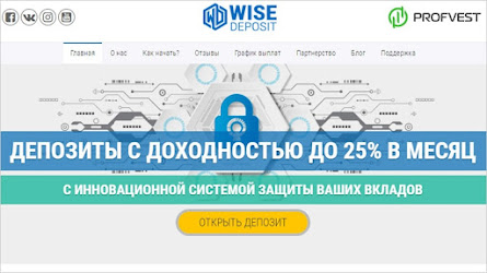 🥇WiseDeposit.com: обзор и отзывы о wisedeposit.com (HYIP платит)