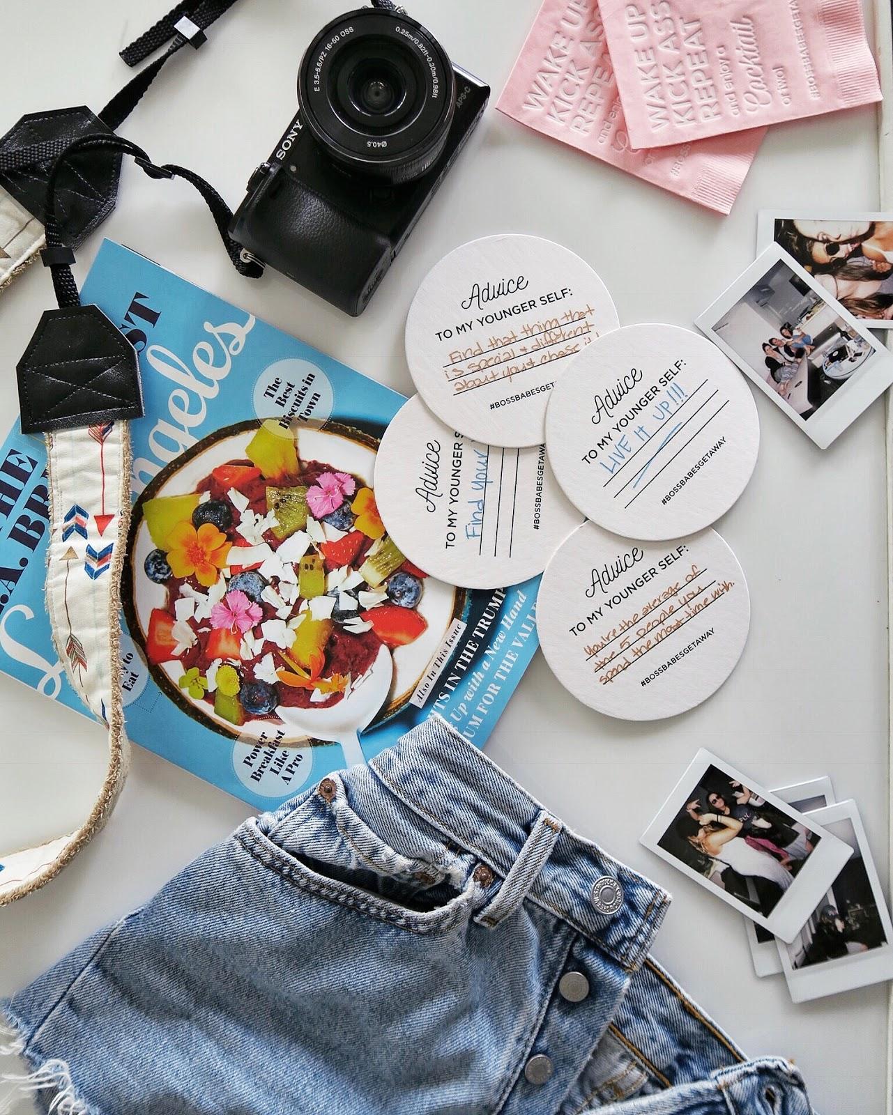 custom party napkins, where to buy custom coasters, girls getaway weekend, w hotel los angeles, poolside hangout