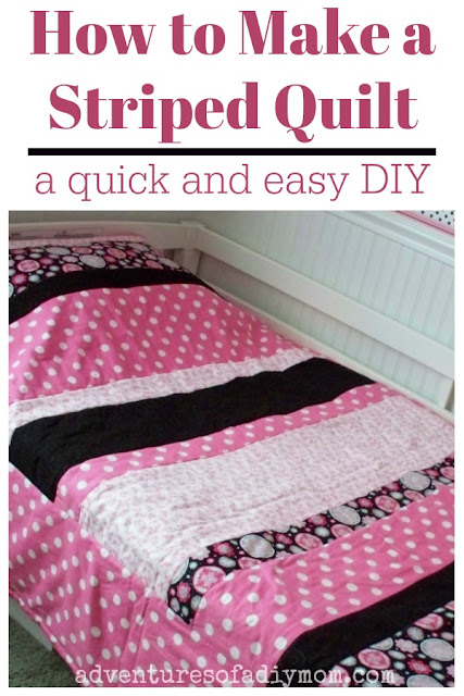 How to make a striped quilt - a quick and easy DIY
