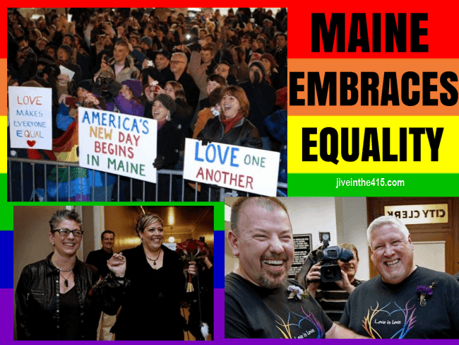 The residents of Maine celebrate marriage equality 12/29/12