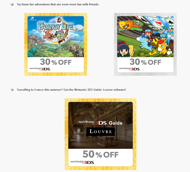 My Nintendo reward Just For You Nintendo 3DS Guide Louvre discount