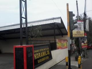 Kanopi besi CNP untuk parkiran di Koramil