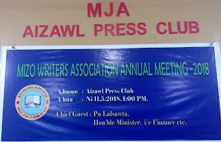 MIZO WRITERS ASSOCIATION ANNUAL MEETING LEH AWARD SEMNA