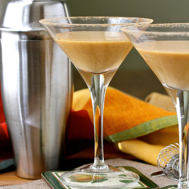 This pumpkin martini is like a milkshake in a cocktail glass... only much better.
