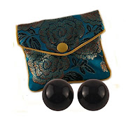 traditional ben wa balls made from black obsidian stone