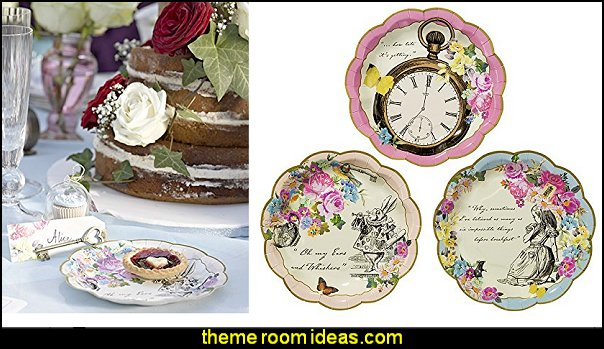 Talking Tables Truly Alice Dainty Party Plates alice in wonderland theme party decorations