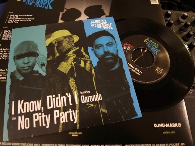 SLIMKID3 & DJ NU-MARKの新作7インチレコードです。