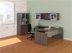 Custom Gray Office Furniture