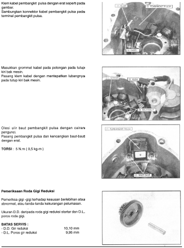 Cara ganti Alternator atau Spul Magnet Tiger 2000, Tiger Revo