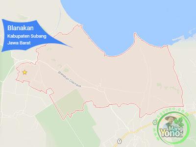 PETA : Kecamatan Blanakan, Kabupaten Subang, Jawa Barat