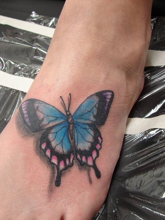 Butterfly Tattoo Ankle: Butterfly Foot Tattoos