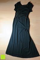 hinten: Alexis Leroy Damen Kappenhülse Jahrgang Halter Split-Seite Formal Abendkleid
