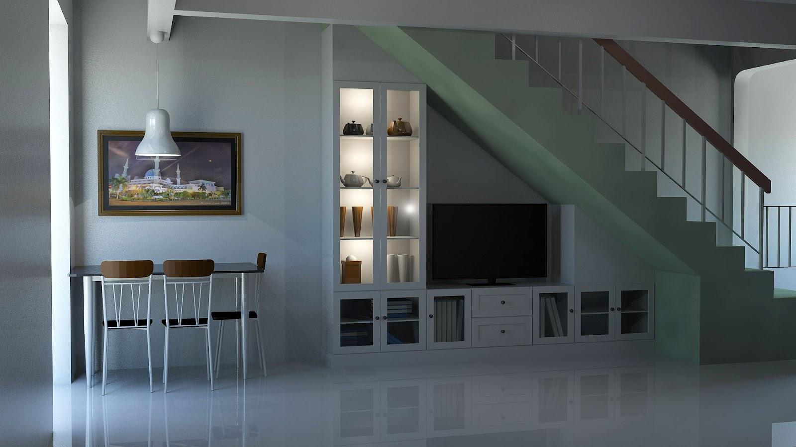 Interior Design Rumah Teres Kecil