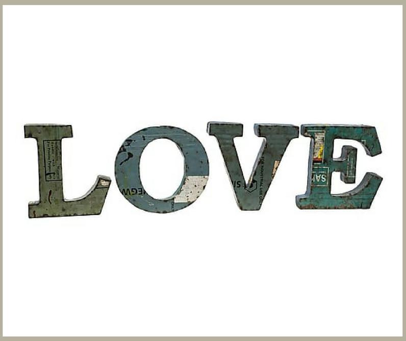 Cosas Bonitas Letras Love  Muero de amor por la deco