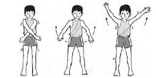 Gerakan lengan silang rentang