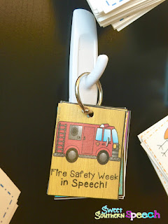 Use Command Hooks and binder rings for speech brag tag storage
