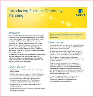 business continuity plan outline