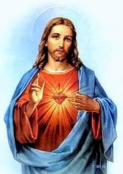 Dibujo de Jesús, Jesucristo mostrando su gran corazón