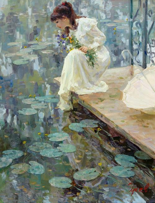 Vladimir Gusev 1957 | Russian Plein-air Figurative painter